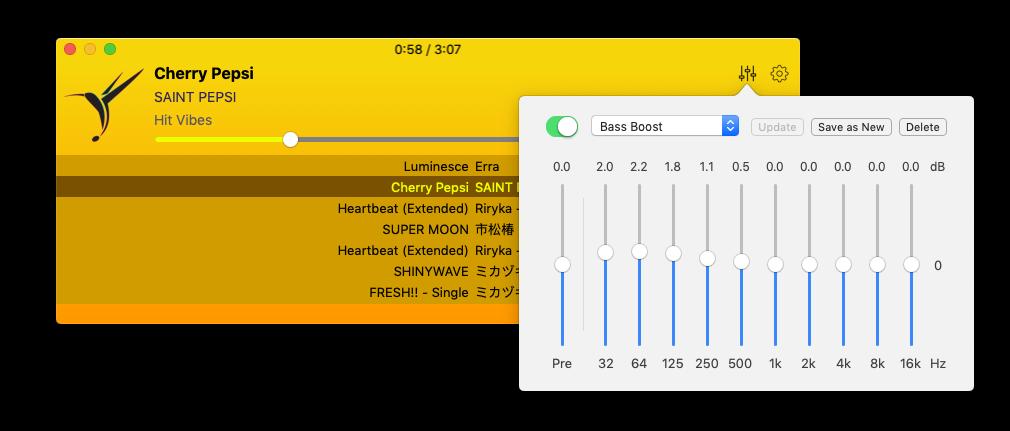 Colibri Lossless - Mac Music & Audio Player - FLAC, DSD, BS2B, Gapless