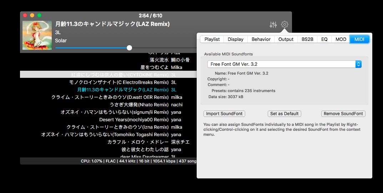 Colibri Gallery Settings MIDI
